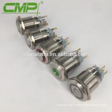 CE Rohs 19mm Schalttafelgröße 12v Taster