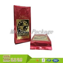 Großhandelskundenspezifisches glattes Logo, das 500g verpackt Qualitäts-Aluminiumfolie-Seitenkeil-Kaffee-Tasche