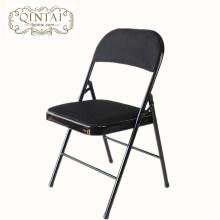 Estructura de metal plegable colorida al por mayor de la silla con la parte posterior de la PU de la malla y los muebles plegables negros del asiento