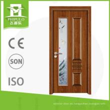 Alibaba último tipo venta caliente mejor precio melamina puerta de madera para vidrio