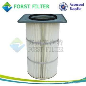 Cartucho de filtro de aire con brida cuadrada