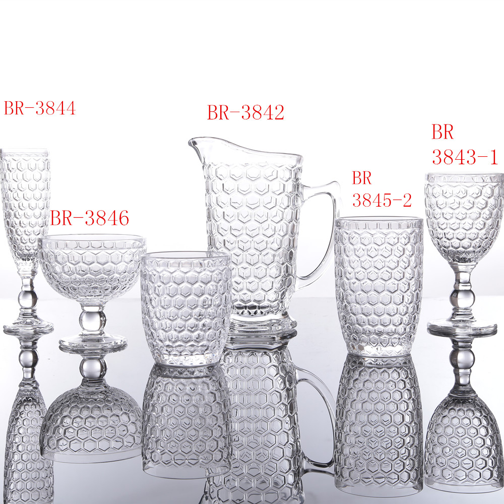 Classic Honeycomb Series Glass Cup Sets