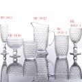 Conjuntos de copo de vidro da série clássica do favo de mel