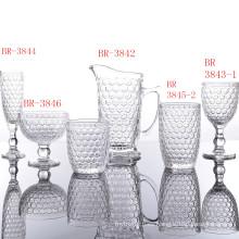Juegos clásicos de vasos de vidrio de la serie Honeycomb