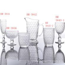 Klassische Glasbecher-Sets der Honeycomb-Serie