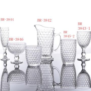 Ensembles de gobelets en verre Classic Honeycomb Series