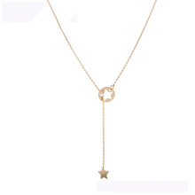 44398 Großhandelsxuping Art- und Weisehalskette, die Sternkette der Goldfarbe 18K verkauft