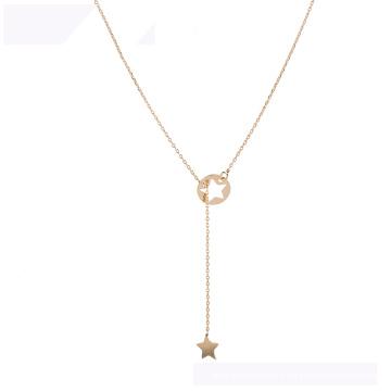 44398 gros collier de mode xuping meilleure vente collier étoile couleur or 18 carats