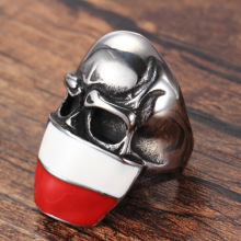 Custom frown siver flag  skull rings