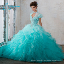Crystal Cascading Ruffle Beaded Quinceanera Dresses