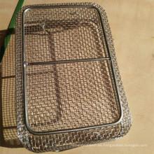 Bandeja de esterilización de instrumentos de malla de alambre médico / contenedor