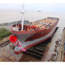 ISO Approuvé de haute qualité des navires Lancement Coussins gonflables, navires Lancement Marine gonflables