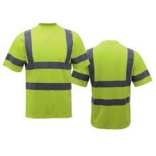 Sicherheits-T-Shirt aus Polyester mit Kragen