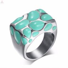 As mulheres antigas novas da jóia do esmalte projetam anéis de aço inoxidável