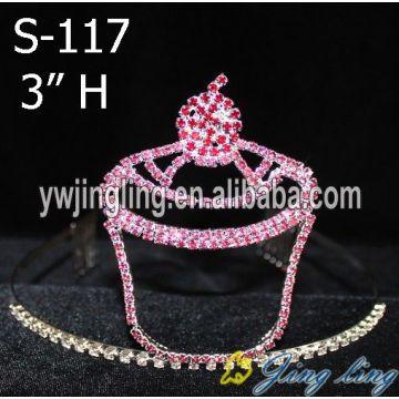 Hot Pink Cupcake Strawberry Tiara Crown
