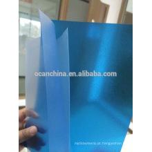 Folha rígida colorida do PVC, folha transparente colorida gravada do PVC com boa qualidade para a tampa obrigatória