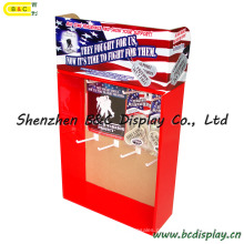 Display Stand com ganchos, caixa de exposição de PDQ de papel, ganchos Display Stand (B & C-D051)