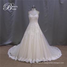 Sexy Sweetheart robe de mariée à volants Tulle