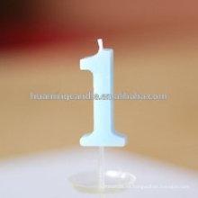 Huaming cera de parafina colorida numeral vela de cumpleaños