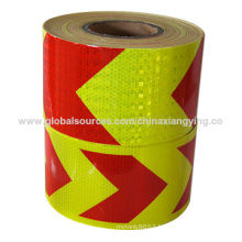 Red and Yellow Honey Comb Design Big Arrow of Reflective Safety Tape
