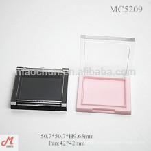 MC5209 Square super fino plástico blush cosméticos caixa compacta