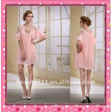 Astergarden новый дизайн Стиль Эммы Робертс из бисера розовый шифон короткое платье партии AS032-5