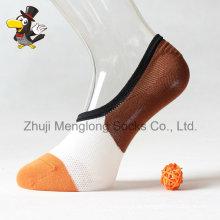 Benutzerdefinierte Mann Baumwolle Socken täglich niedrig geschnittene Socken angezündet Socken mit Greifer in der Ferse