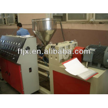 SJ series conical twin screw plastic extruder