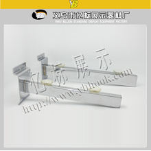 Metal twin slotted brackets for glass/wood shelf support