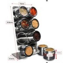 Porta-condimentos magnético aço inoxidável (CL1Z-J0604-8A)