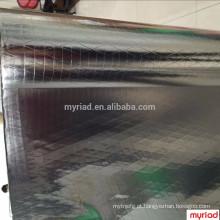 Revestimento lateral dobro da folha-Scrim-Kraft, material reflexivo e de prata da telhadura Laminação revestida da folha de alumínio