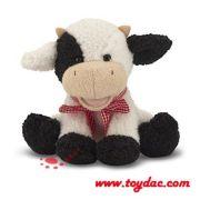peluche de juguete suave de vaca