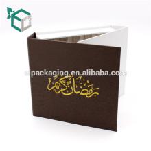 trufa de grado alimenticio oro sellado logo tuerca reciclar papel de lujo alcanzar estándar certificado caja de paquete de alimentos