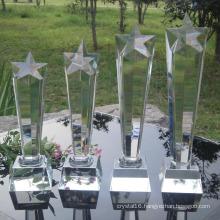 K9 Material Crystal Five Column Trophy Awards for Celebration