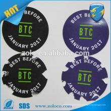 Высококачественный клей легко оторвать от наклейки, изготовленные на заказ съемные наклейки с логотипом