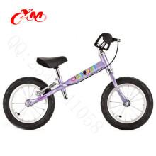 online selling walking bike kids balance/12inch children balance bike with air tires/2 wheels balance bike purple color V brake
