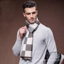 Herren Karo-Muster Wolle gewebt Winter warme Schal (YKY4609)