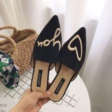 Черная 3d вышивка женская обувь без шнуровки