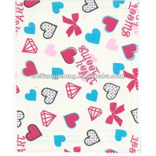 100%cotton 21*10 40*42 printed flannel fabric
