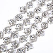 New  S shape bling bling crystal embelish trimmings for sash belt RH1033