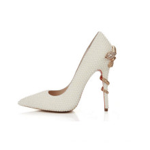 Sapatos de salto alto de moda de casamento de pérolas mais recentes (HC02)