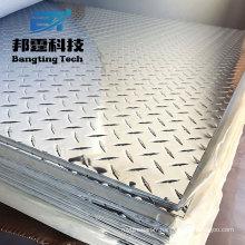 Plat en aluminium 80x45 en aluminium faisant la plaque de bande de roulement en aluminium d'utilisation d'autobus de feuille de plancher de vérificateur