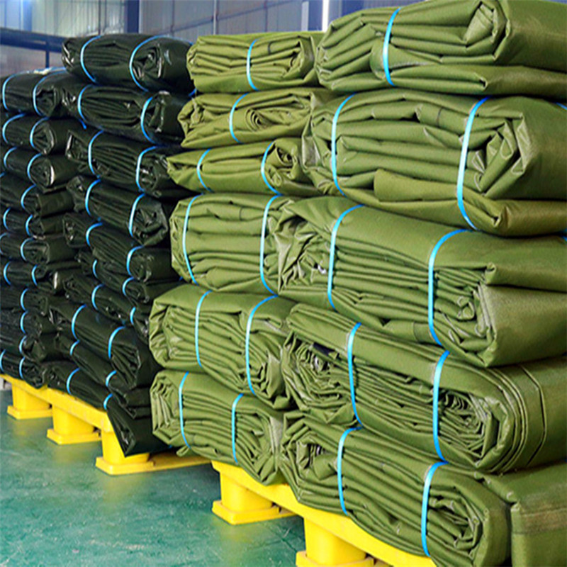 Stock of polyester canvas tarps