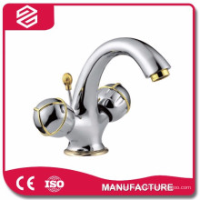 two handles washing basin faucet for bathroom