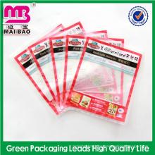 alibaba certificó el bolso sellado al vacío del congelador del grado alimenticio del fabricante