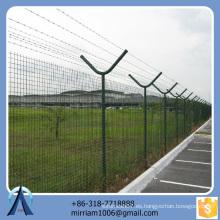 Anping Baochuan estilo europeo al por mayor galvanizado con el PVC colorido usado usados de la cerca de la cerca para la venta