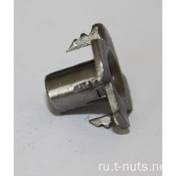 4 Prongs Carbon Steel Plain T-Nut для мебели