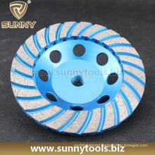 Turbo Diamond Cup Wheel, Diamond Cutting Wheel for Stone Concrete Grinding (S-DCW-1011)