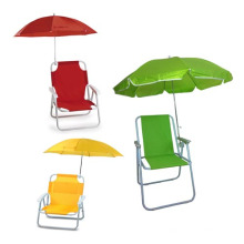 Chaise de plage se pliante d'enfants de marque de vente chaude avec le bras en plastique de parapluie (SP-141)