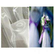 Glass Organza Fabric for Bridal Flower Decoration